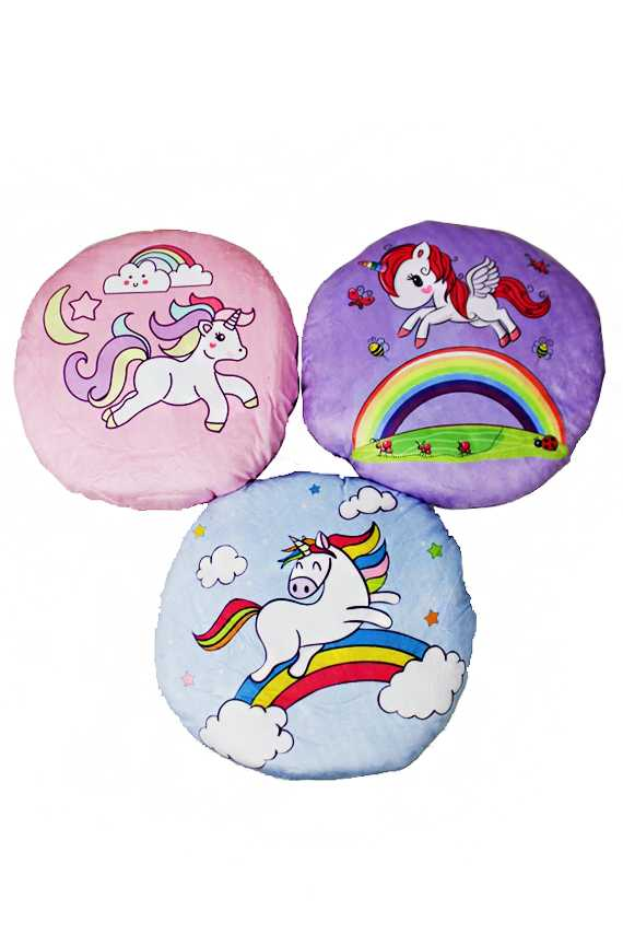 Fairy Tale Unicorn Plush Circle Pillows