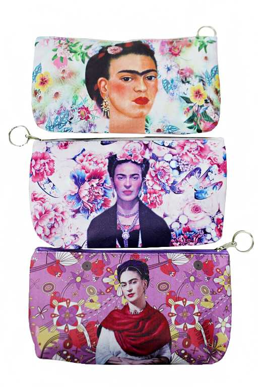 Frida Kahlo and Floral Printed Thin Fashion Wallet