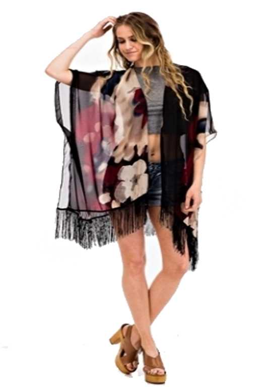 Ink Vintage Washed Cover Up Kimono