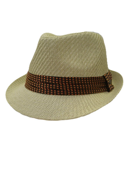 Checkered Ribbon Fedora