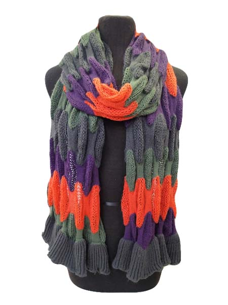 Hand Made Wavy colors Scarves