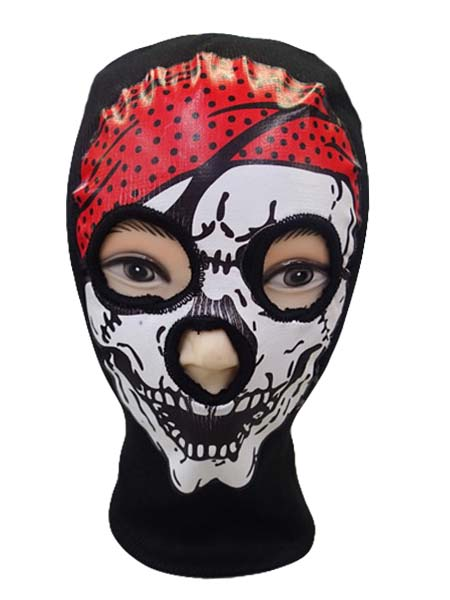Acrylic Ski mask with Pirate Skull Print