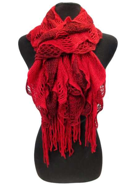 Two Tone Ruffle Vintage Scarves