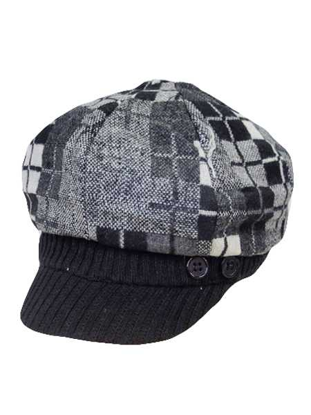 Square Design Newsboys Hat