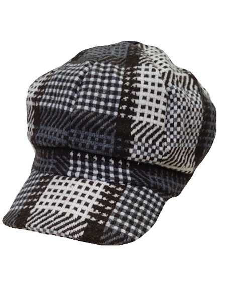 Little Checked newsboy hat