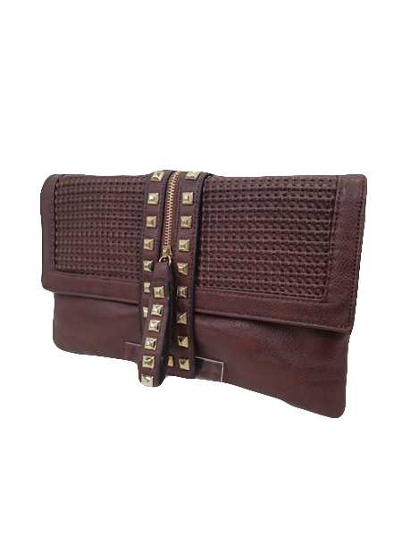 Studs Clutch Leather feel bag