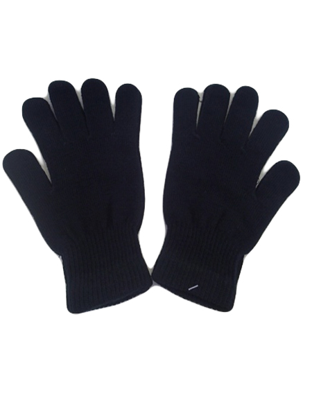 Solid Black Gloves stretchy