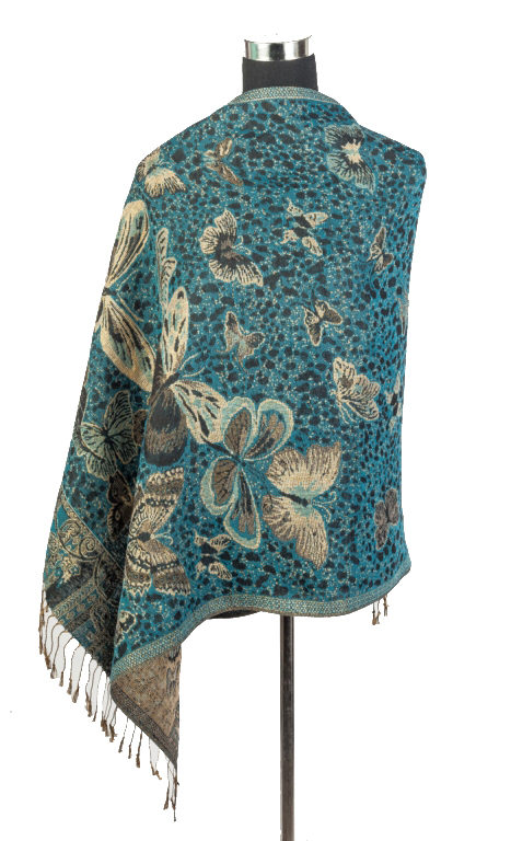 Butterfly Shimmer Thread Pashminas