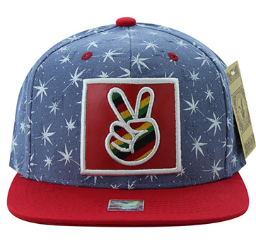 Peace Rainbow Color filled Vibrant Street Fashion Snap back