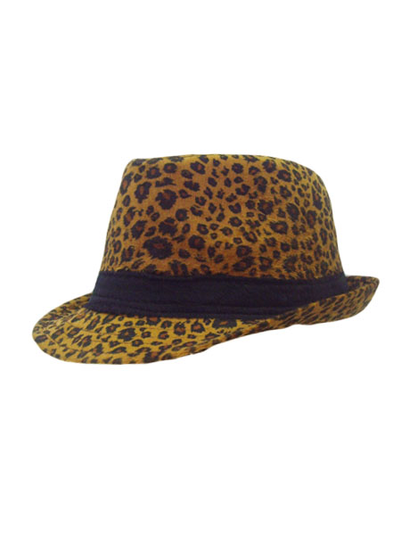 Leopard print with band Fedora