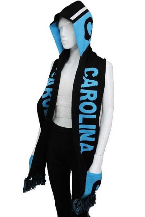 """CAROLINA"" Double Layered & Thick Knit UNISEX Hooded and Fringed Winter Scarf with Pockets"