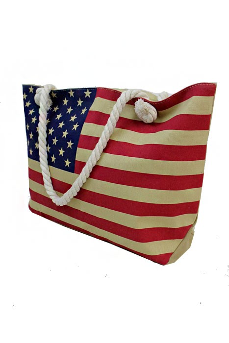 American Flag Vintage Color Tote Fashion Bag
