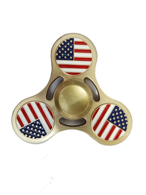 American Flag Design Metal  Fidget  Hand Spinner Toy