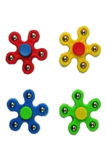 Itty Silver Studded Five Fidget Toy Spinner
