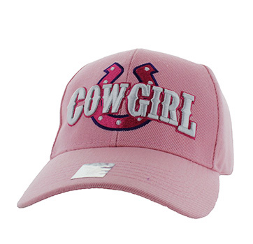 Cowgirl Horse shoe Designed Baseball Cap