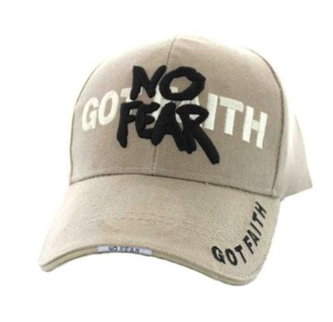 Got Faith No Fear Embroidered Religious Baseball Cap