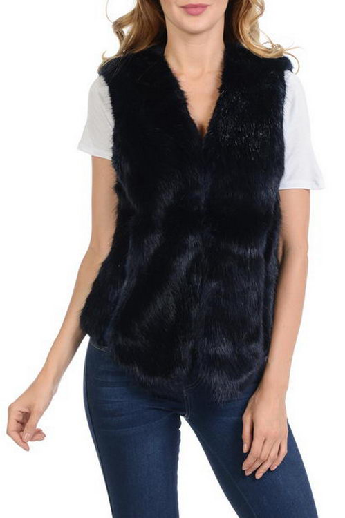 Vest High-Grade Faux Fur