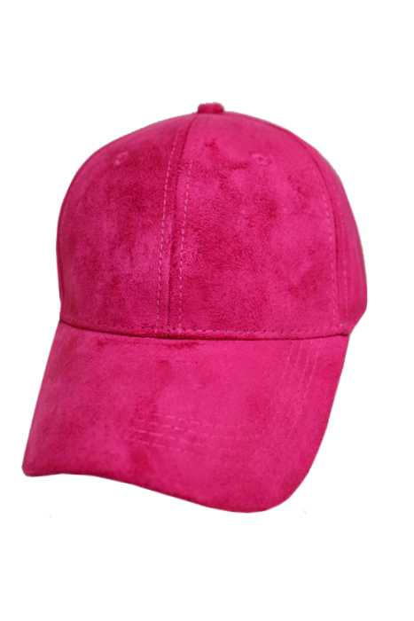 pink hot leather baseball cap polo suede