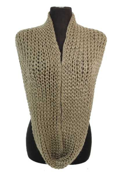 Soft Classic Hand Crochet Knit Infinity Scarves