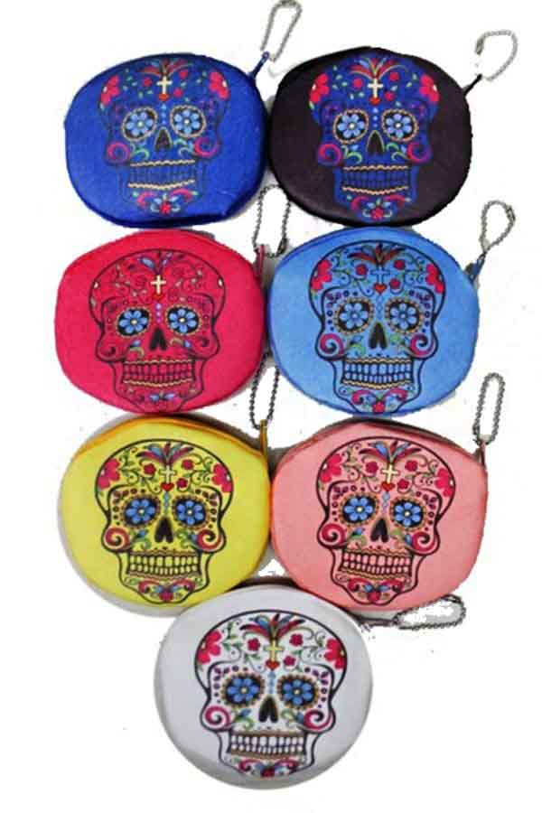 Sugar Skull Pouch Coin Bag