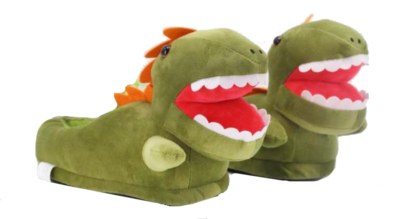 Adult T-Rex Dinosaur Slippers