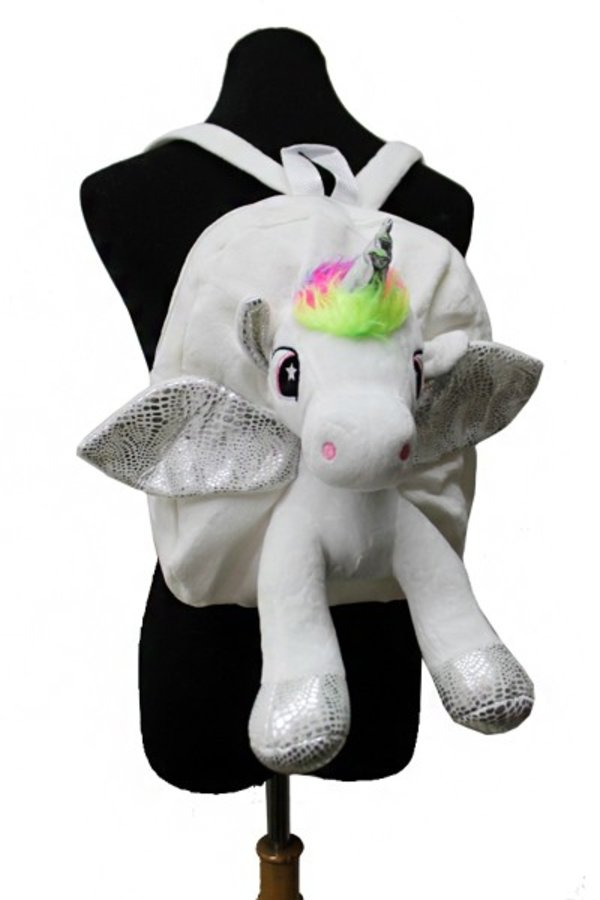 Plush Winged Fairy Tale Unicorn Backpack