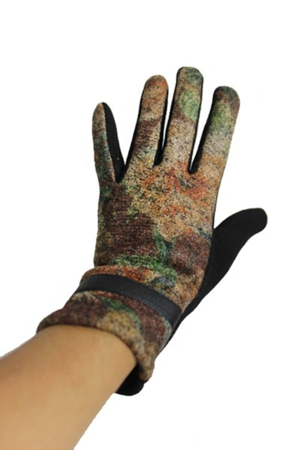 Vintage Washed Colorful Fall Roses Luxury Lady Gloves