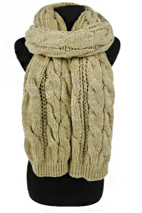 Big Cable Pattern  Long and Wide Thick Knitted Shawls Blanket  Scarf