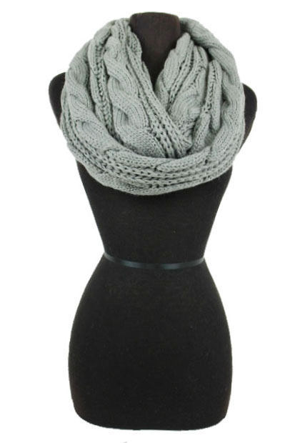 Big Cable Pattern Softness Big Infinity Scarf