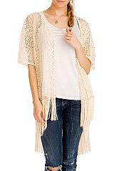 Laced Abstract Cut Out Cover Up Spring Collection Softness Kimono