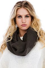Ribbed Soft Knit Casual Chic Infinity Scarves