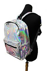 Metallic Iridescent Full Size Big Size Backpack