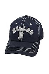 Dallas Cowboys Colorway Dallas D Embroidered Stitched Strap Back Washed Cotton Baseball Hat