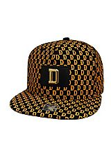 Dallas D Embossed Patch Accented All Print Six Panel Acrylic Snap Back Hat