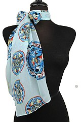 Soft & Silky Pinwheel Pattern Neck Scarves