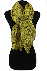 Polka Dot & Floral Pattern Scarves