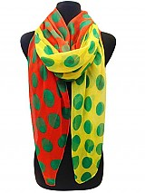 Colorful  Polka dot scarves