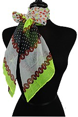 Soft Polka Dot Neck Scarves