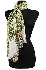 Chain and Animal Pattern design Super softness Scarf