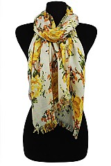Flower Design Super Softness Scarf