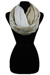 Floral Pastel Color Soft Infinity Scarves