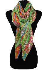 Floral Paisley Pattern Soft Scarves & Wraps