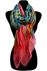 Multi Color Paint Pattern Soft Scarves & Wraps.