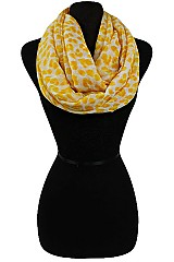 Soft Color Dotted Pattern Infinity Scarves