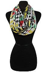 Mix Color Full Pattern Soft Sheer Infinity Scarves