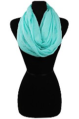 Soft  Fabric Infinity Scarves Pastel Colors