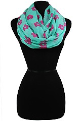 Sketch Color Full Floral Pattern Infinity Scarves