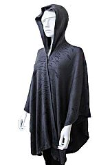 Thick Hooded Debossed Detailed Super Softness With Clip Poncho