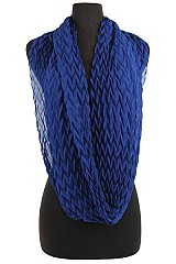 Soft and silky Infinity Scarves Bubbly Chevron Pattern