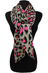 Soft and Silky Scarves Leopard Pattern